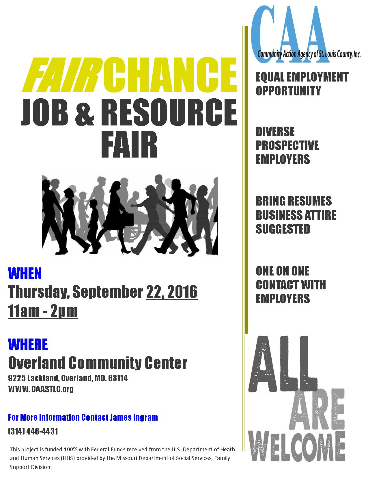 Fair Chance Job Fair Flyer 2016