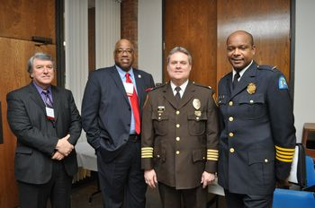 [b]Above:[/b]  The STAR Summit welcomed many speakers, including from left, Missouri Department of Corrections Director George Lombardi, ARCHS' Chief Executive Officer Wendell E. Kimbrough, St. Louis County Police Chief Col. Timothy Fitch and City of St. Louis Police Chief Col. Daniel Isom.